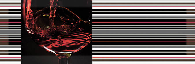 Decor Red Wine 01 15x45
