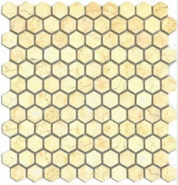 Marmo Mosaic Hexagon