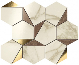 Marvel Gold Hex Brown-Calacatta