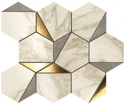 Marvel Gold Hex Gris-Calacatta